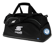BLESSED SACRAMENT SOCCER DUFFLE BAG -- BLACK WHITE