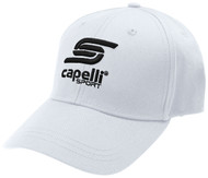 ADULT  CS ONE BASEBALL CAP -- WHITE BLACK