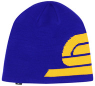 ADULT  LOGO KNIT BEANIE -- ROYAL BLUE GOLD