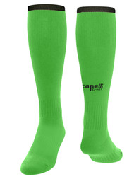 LOUDOUN GIRLS GOALKEEPER ECNL CS ONE SOCCER HOME SOCKS W / ANKLE SUPPORT -- POWER GREEN BLACK
