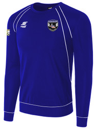 RAVEN  LONG SLEEVE SWEAT TOP --   ROYAL BLUE WHITE