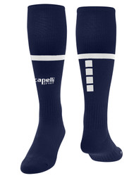 MERIDEN SPARROW SOCKS   -- NAVY  WHITE
