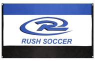 KANSAS RUSH FLAG WITH GROMMETS   -- BLUE COMBO