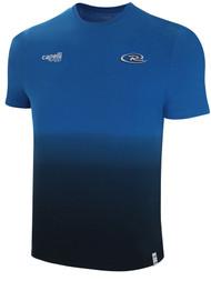 KANSAS WICHITA RUSH  LIFESTYLE DIP DYE TSHIRT --  PROMO BLUE BLACK **option to customize with your local club name