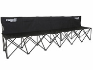 CAPELLI SPORT FOLDING 6 SEATS TEAM BENCH --    BLACK