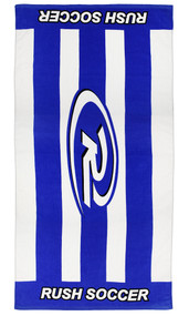 RUSH MONTGOMERY PRINTED TOWEL   --  BLUE WHITE