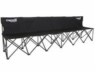 CAPELLI SPORT FOLDING 6 SEATS TEAM BENCH   --    BLACK