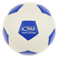MONTANA RUSH MINI SOCCER BALL -- WHITE ROYAL BLUE