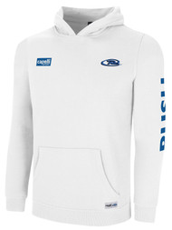 MOUNTAIN RUSH  NATION  BASIC HOODIE  -- WHITE PROMO BLUE