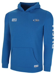 NEW MEXICO RUSH NATION BASIC HOODIE  -- PROMO BLUE WHITE --  ADULT SMALL IS ON BACK ORDER, WILL SHIP BY 1/11/21