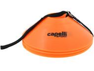CAPELLI SPORT  10 PCS TRAINING CONES WITH CARRY STRAP  -- ORANGE BLACK