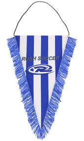 RUSH WISCONSIN WEST PENNANT  -- BLUE WHITE