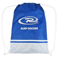 RUSH WISCONSIN WEST DRAWSTRING BAG  -- ROYAL BLUE WHITE