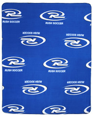 RUSH WISCONSIN WEST  FLEECE THROW  -- BLUE COMBO