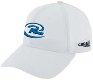 QUAD CITIES RUSH CS II TEAM BASEBALL CAP --  WHITE BLACK