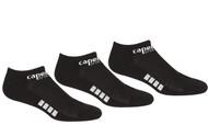 RUSH JUNEAU CAPELLI SPORT 3 PACK NO SHOW SOCKS-- BLACK