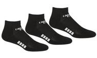 RUSH JUNEAU CAPELLI SPORT 3 PACK LOW CUT SOCKS -- BLACK