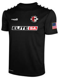 ELITE SA HOME  CS ONE SHORT SLEEVE MATCH JERSEY --  BLACK