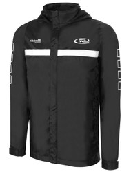 NORTHERN CALIFORNIA RUSH SPARROW RAIN JACKET --BLACK WHITE