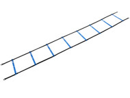 CAPELLI SPORT 11  RUNG PLASTIC SPEED LADDER WITH CARRYING CASE -- PROMO BLUE WHITE