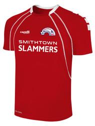 SMITHTOWN SLAMMERS RAVEN SHORT SLEEVE JERSEY --  RED WHITE ($21 - $24.5)