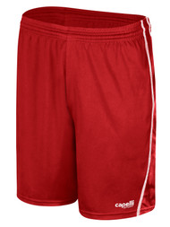 SMITHTOWN SLAMMERS RAVEN SHORTS W/ EMBROIDERED LOGO AND MESH PANELS-- RED WHITE ($14-$15.40)