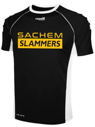 SACHEM SHORT SLEEVE AWAY JERSEY    --  BLACK  WHITE