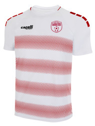 CLARKSTOWN  MADISON STRIPLE  AWAY JERSEY - WHITE RED  --  AXL IS ON BACK ORDER, WILL SHIP BY 8/28