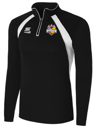 COLONIE SC  RAVEN 1/4 ZIP TRAINING JACKET -  BLACK  WHITE