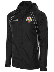 COLONIE SC  RAVEN  RAIN  JACKET  -  BLACK  WHITE