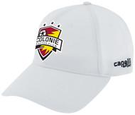 COLONIE SC TEAM BASEBALL CAP  -- WHITE  BLACK