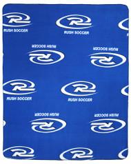 OREGON CASCADE RUSH FLEECE THROW  -- BLUE COMBO