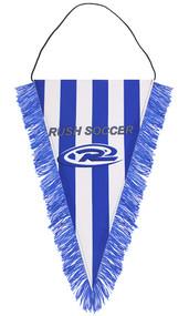 PUEBLO WEST RUSH PENNANT  -- BLUE WHITE