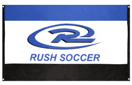 QUAD CITIES RUSH FLAG WITH GROMMETS   -- BLUE COMBO