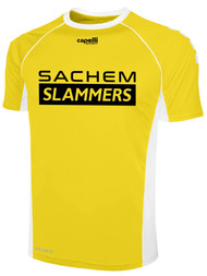 SACHEM INTRAMURAL JERSEY    --  YELLOW WHITE -- YXS , YS AND  YM  ARE ON BACK ORDER, WILL BE SHIPPED BY 11/15