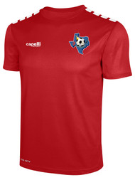 CENTRO SOCCER CS ONE SHORT SLEEVE JERSEY  --    RED
