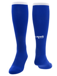 CENTRO SOCCER CS ONE SOCCER SOCKS --    ROYAL BLUE WHITE
