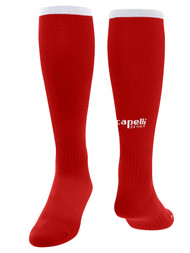 CENTRO SOCCER CS ONE SOCCER SOCKS --    RED WHITE