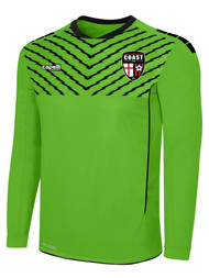 "COAST FA ""FLASH"" SPARROW  LS GOALKEEPER JERSEY -- POWER GREEN BLACK"