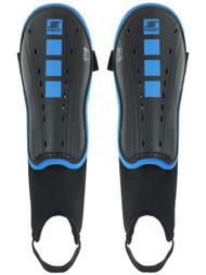 NEMESIS SA  CAPELLI SPORT FOUR CUBES SHINGUARDS WITH ANKLE STRAP --BLACK ROYAL BLUE