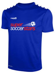 SUPER SOCCER STARS  YOUTH CS ONE SHORT SLEEVE JERSEY -- ROYAL BLUE WHITE