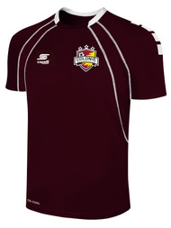 COLONIE SC SHORT SLEEVE AWAY JERSEY --  MAROON  WHITE