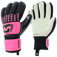 CALIFORNIA RUSH CS 4 CUBE COMPETITION YOUTH GOALKEEPER GLOVE -- NEON PINK NEON GREEN BLACK