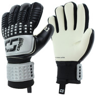 CALIFORNIA RUSH CS 4 CUBE COMPETITION YOUTH GOALKEEPER GLOVE  -- SILVER BLACK