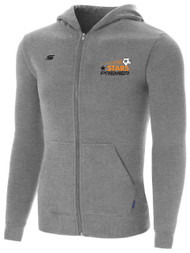 STARS PREMIER ZIP UP HOODIE --  GREY HEATHER