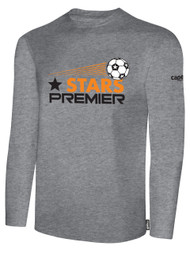 STARS PREMIER LONG SLEEVE T-SHIRT--  LIGHT HEATHER GREY