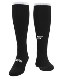 CS ONE SOCCER SOCKS W/ANKLE AND ARCH SUPPORT -- BLACK WHITE