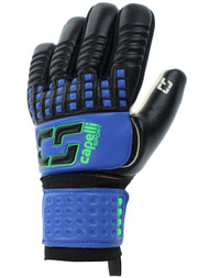 MISSISSIPPI RUSH CS 4 CUBE COMPETITION ADULT GOALKEEPER GLOVE --PROMO BLUE NEON GREEN BLACK