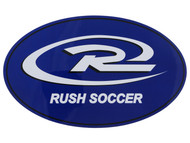 MOUNTAIN RUSH SOCCER BUMPER MAGNET - WHITE PROMO BLUE