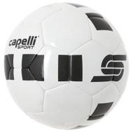 CAPELLI SPORT 4 CUBE MACHINE STITCHED SOCCER BALL -- WHITE BLACK